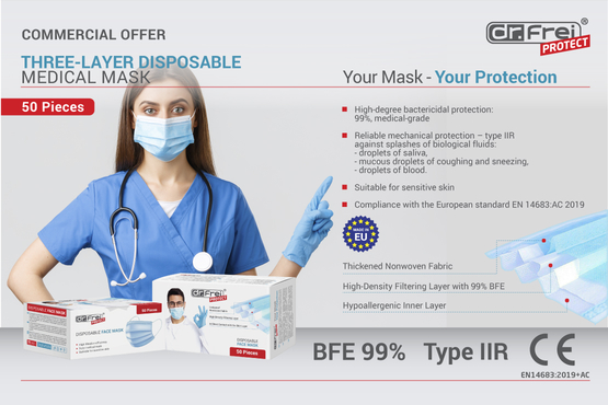 Tried and Tested Dr. Frei Protect Medical Masks